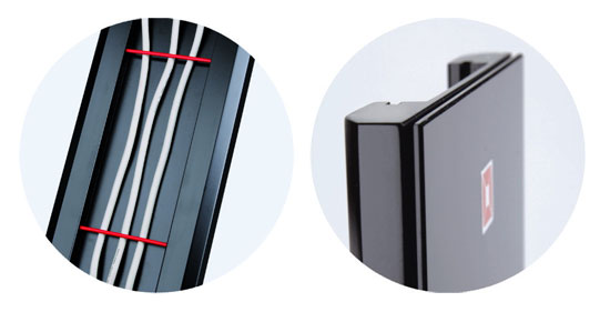 Maskownica kabli M310 czarna - Listwy maskujące
