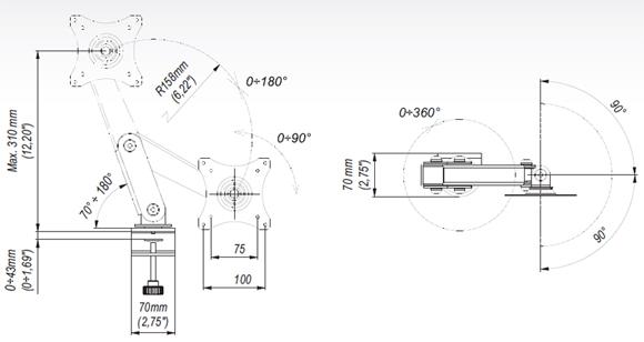 LC-GD12 - Uchwyty do biurka