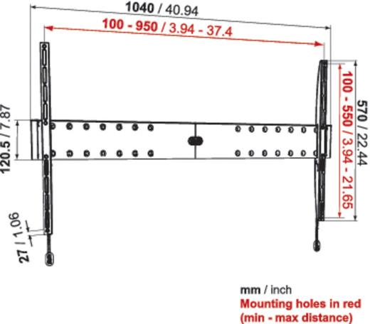 Uchwyt Vogels Physix PHW100XL - Uchwyty do TV LCD / plazma / LED