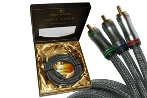 Kabel 3RCA-3RCA Component 1.8m Cabletech Gold Edition