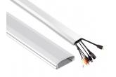 Listwa maskująca do kabli aluminiowa 60x20x750 mm