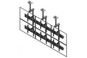 LCC3247-L - Uchwyt sufitowy 3x2 do ściany wizyjnej 42