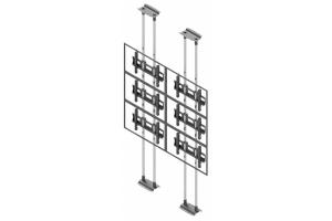 LCFC2347-L - Uchwyt sufit-podłoga 2x3 do ściany wizyjnej 42
